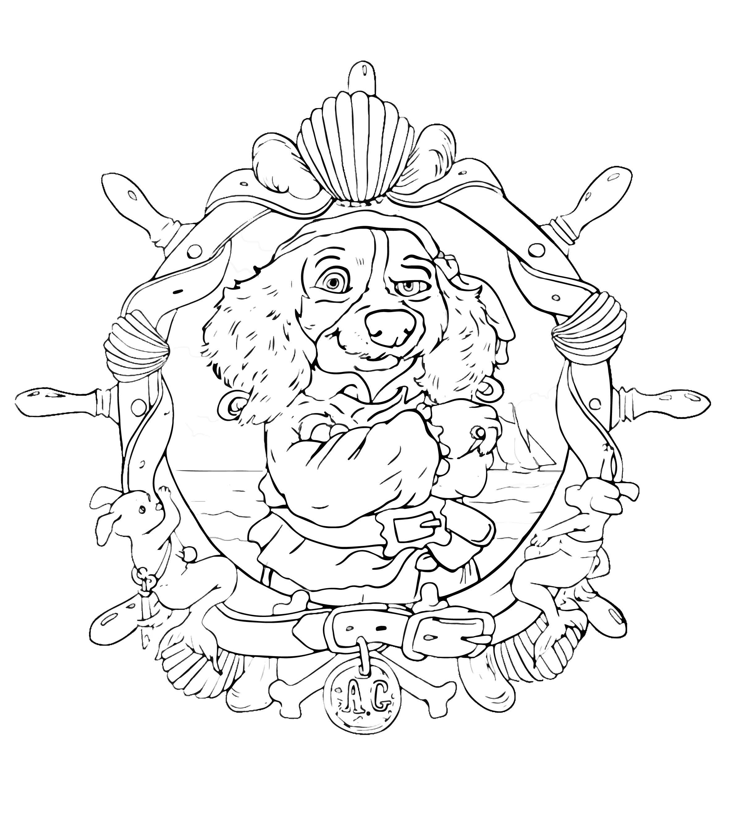 Augusta Garrick Colouring Page