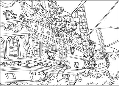bad pirate coloring page